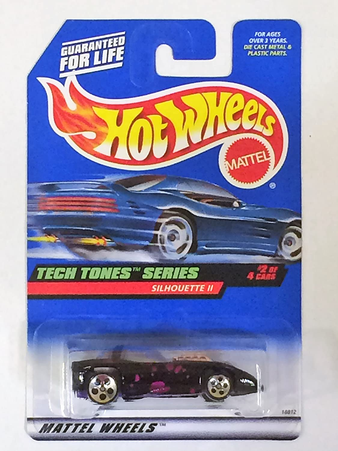 Hot Wheels - 1998 - Tech Tones Series - Silhouette II - Black & Purple - #2 of 4 - Collector #746 - Limited Edition - Collectible 1:64 Scale