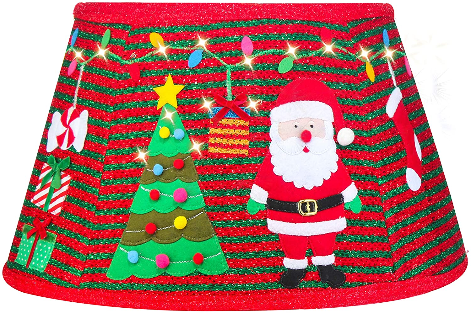 Yomikoo Christmas Tree Collar,Tree Stand Band with Santa Pattern for Christmas Tree,Home Decoration, Tree Decorate