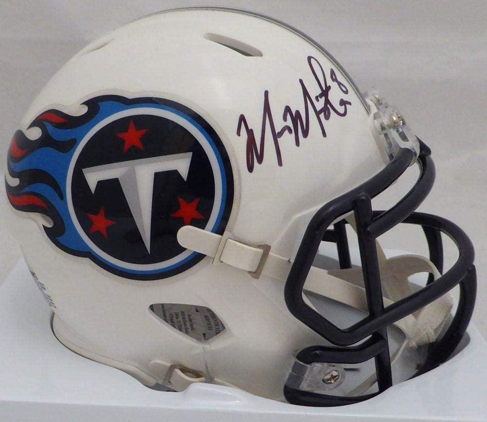 Marcus Mariota Autographed Tennessee Titans Speed Mini Helmet Beckett BAS Stock #132507 - Autographed NFL Mini Helmets