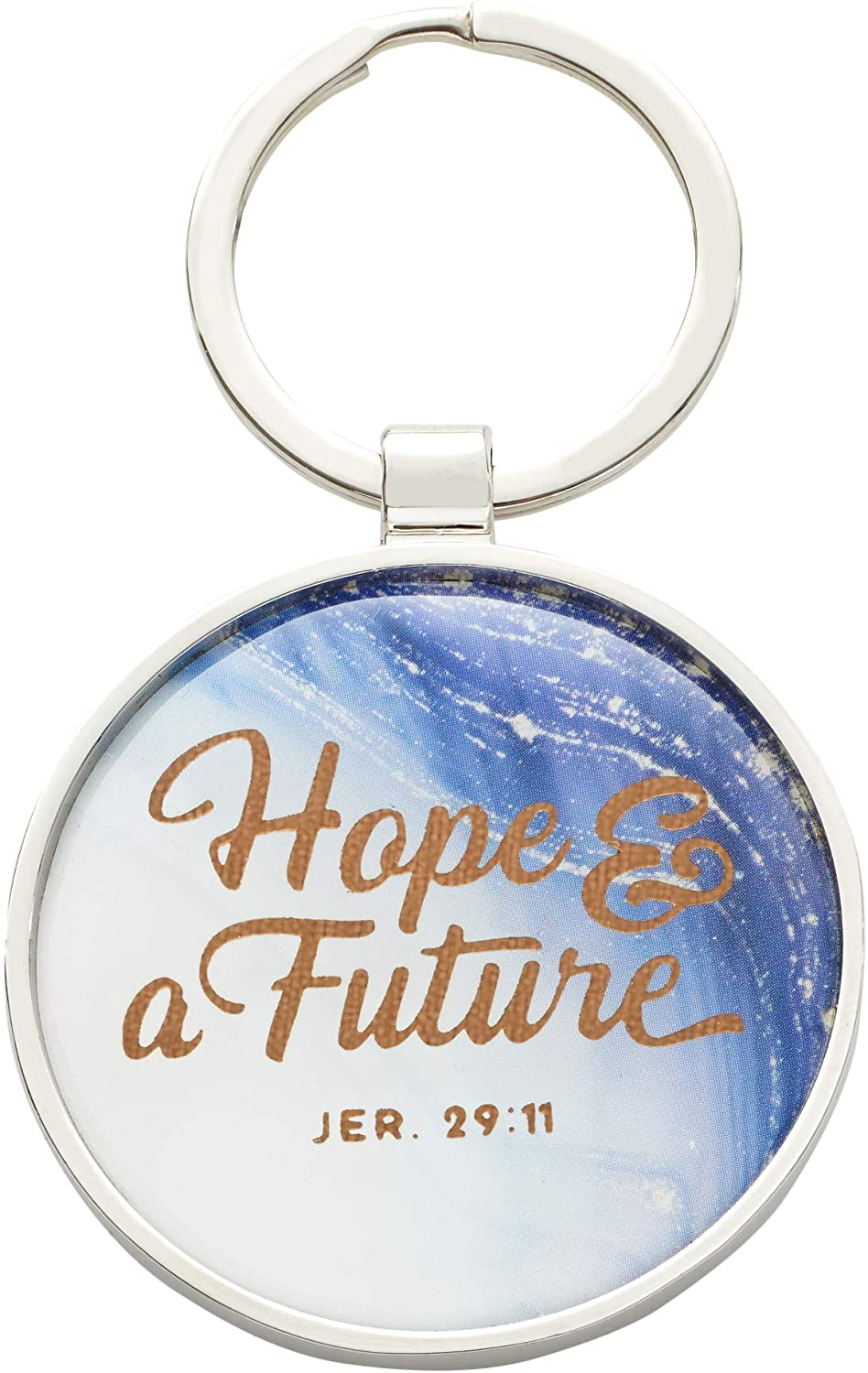 Hope and A Future - Jeremiah 29:11 Blue Keychain Keyring Accessory For Graduates