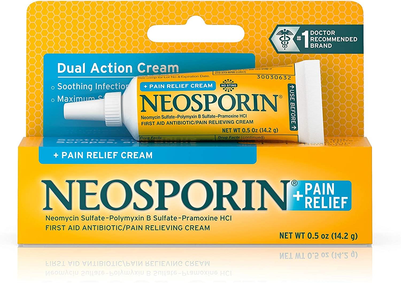 Neosporin + Pain Relief Dual Action Cream, .5 Oz