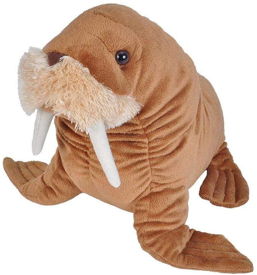 Wild Republic 22488 Walrus Plush, Stuffed Animal, Plush Toy, Gifts for Kids, Cuddlekin, Size 12