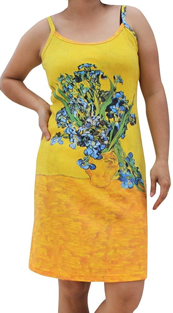 Vincent Van Gogh - Vase of Irises - Spaghetti Strap Dress