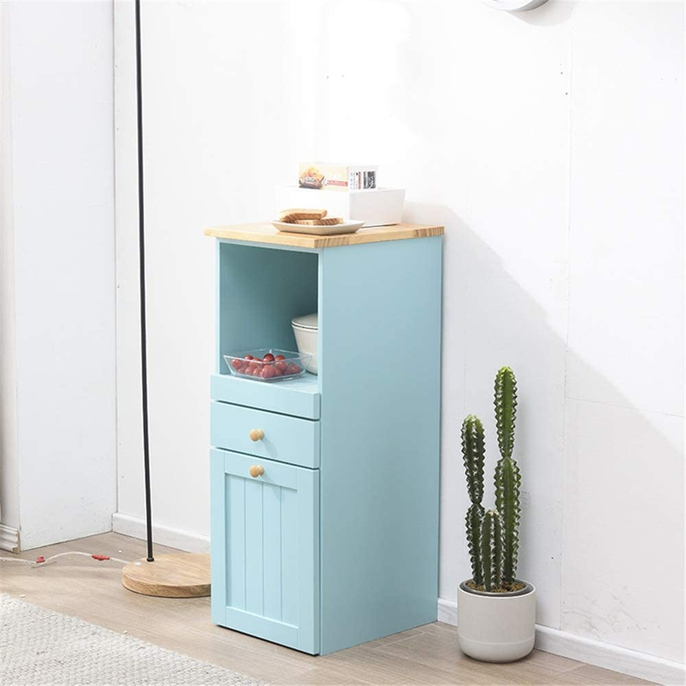 QERNTPEY Sideboard Cabinet Buffet Entryway Bar Cabinet Storage Home and Coffee Maker Utility Cabinet Elegant & Practical Cabinet (Color : Blue, Size : 35x40x90cm)
