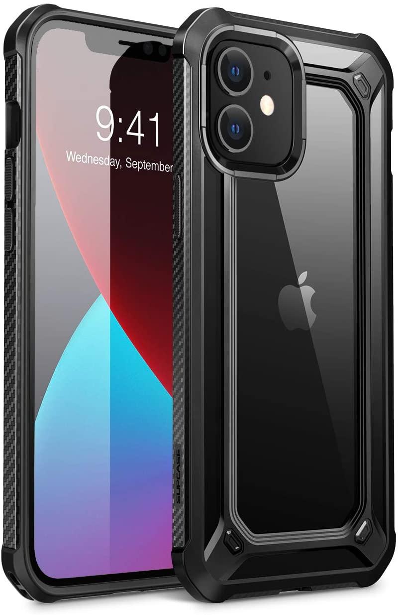 SUPCASE Unicorn Beetle EXO Series Case for iPhone 12 Mini (2020 Release) 5.4 Inch, Premium Hybrid Protective Clear Bumper Case (Black)