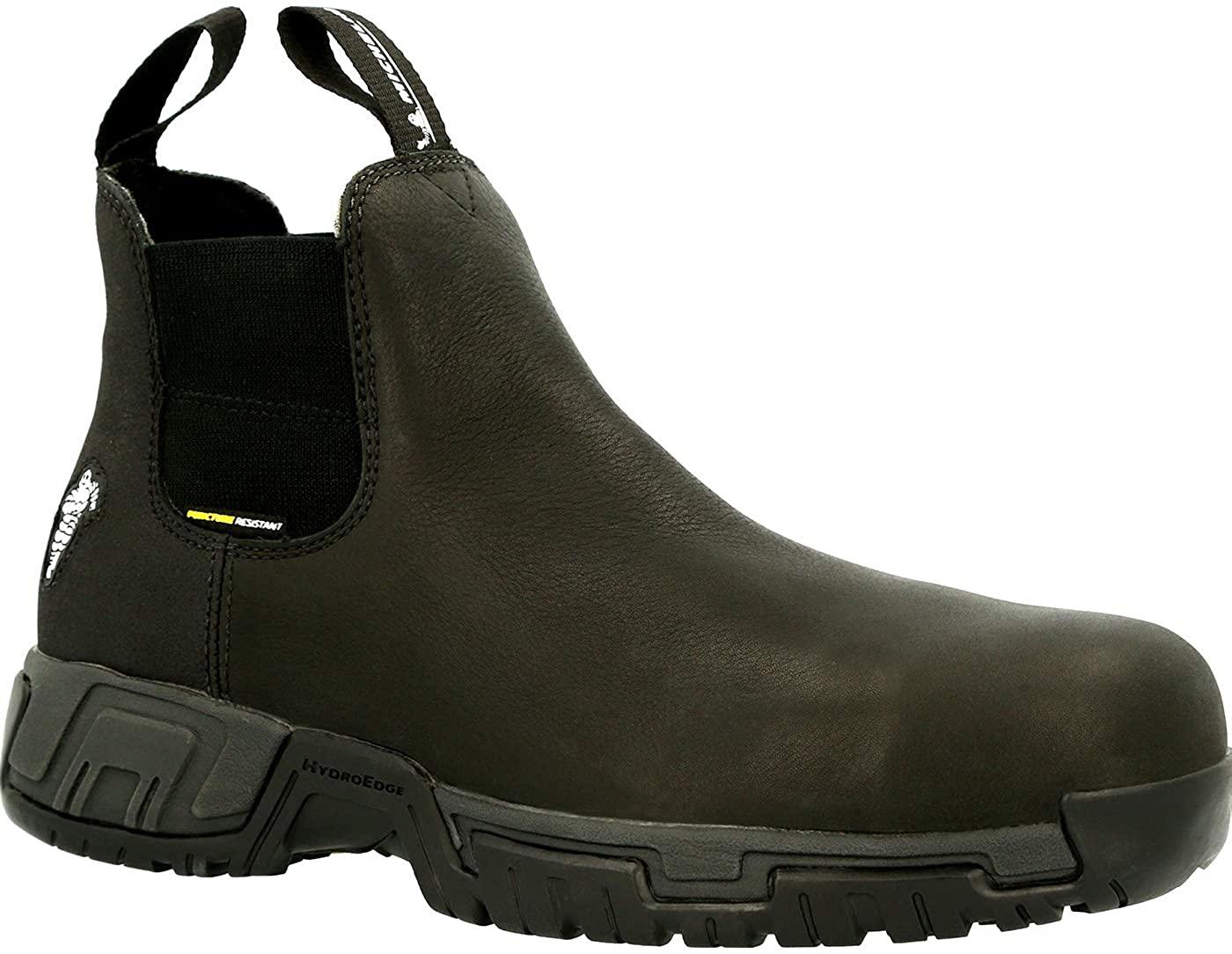 MICHELIN HydroEdge Puncture Resistant Alloy Toe Waterproof Chelsea Work Boot Size 10(W) Black