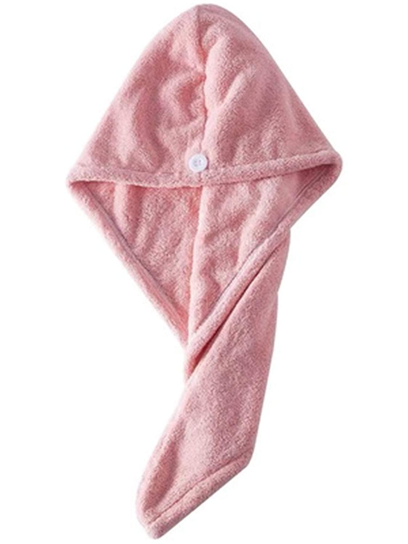AnHua 1 Pc Girl's Hair Drying Hat Quick-dry Hair Towel Cap Hat Bath Hat Microfiber Solid Towel Cap Super Turban Hair Dry Cap Random Color
