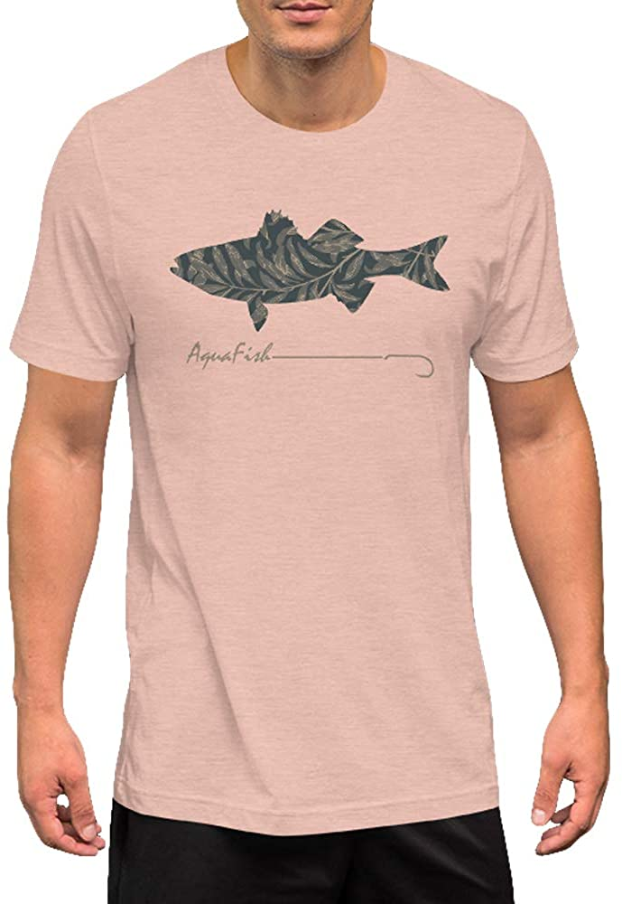 AquaFish Apparel - Striped Bass Graphic Tees for Men | Premium Short Sleeve Fish Graphic T-Shirt