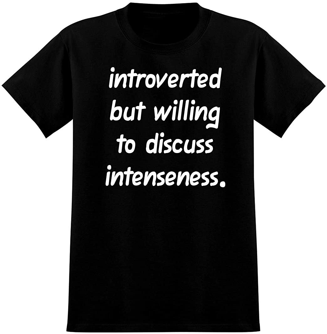 Introverted But Willing to Discuss intenseness - Soft Mens T-Shirt