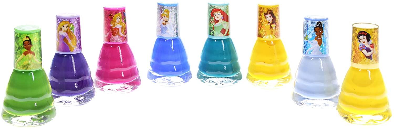 UPD Townleygirl Disney Princess Peel-Off Nail Polish Gift Set for Kids (8), 8Count