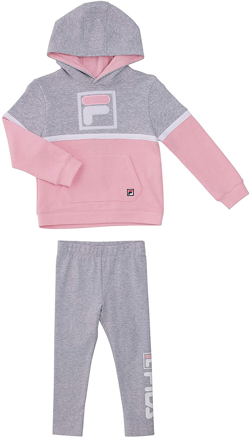 Fila Heritage Girls Two Piece Top and Legging Sets for Baby Girls Clothing