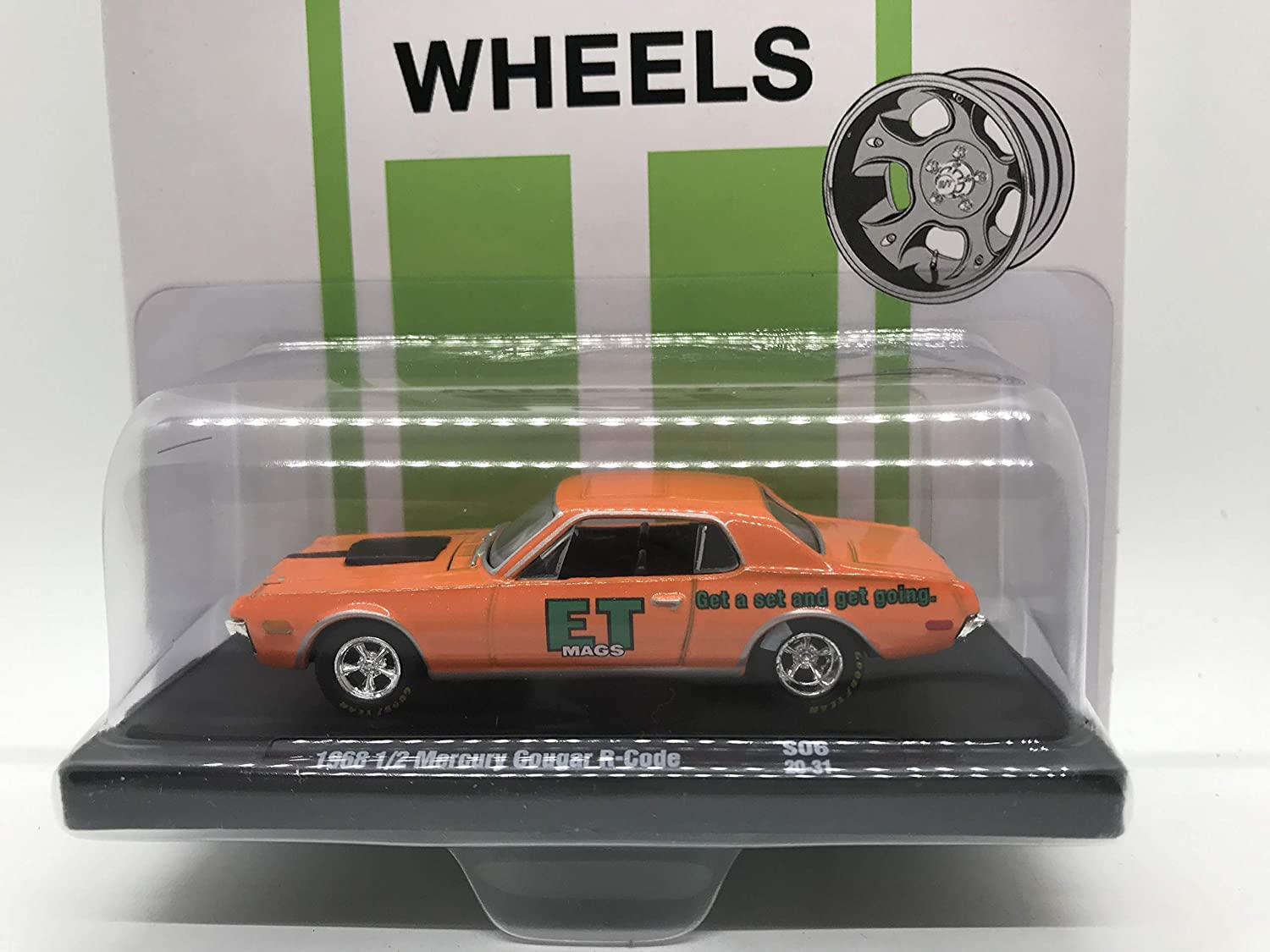 M2 Machines by M2 Collectible E-T Wheels 1968 1/2 Mercury Cougar R-Code 1:64 Scale S06 20-31 Orange Details Like NO Other! 1 of 2333