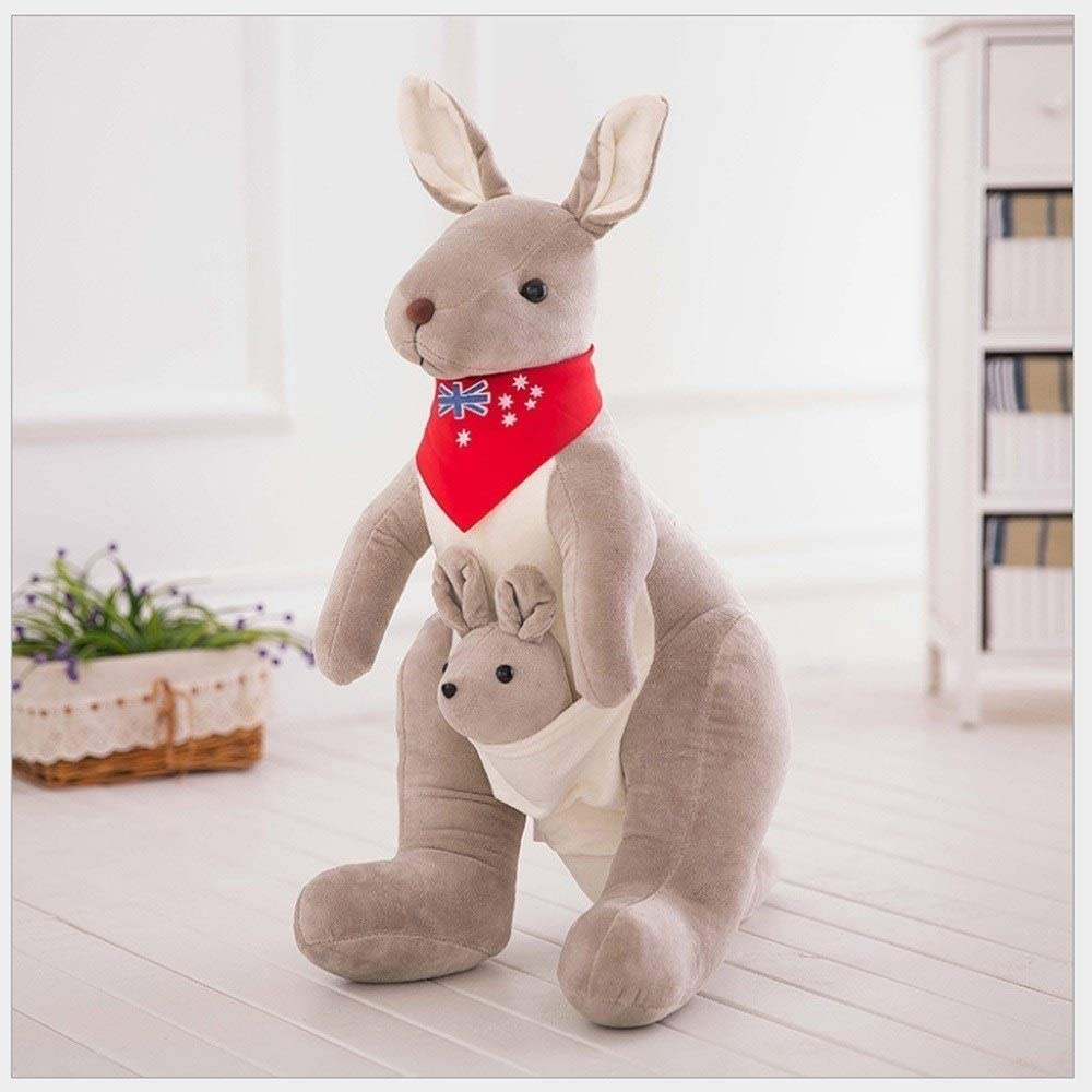 WASS6 45cm Cute Lovely Soft Plush Doll Australian Mother and Child Kangaroo Plush Toys Baby Toys Birthday Gift for Kids Children ( Color : B )