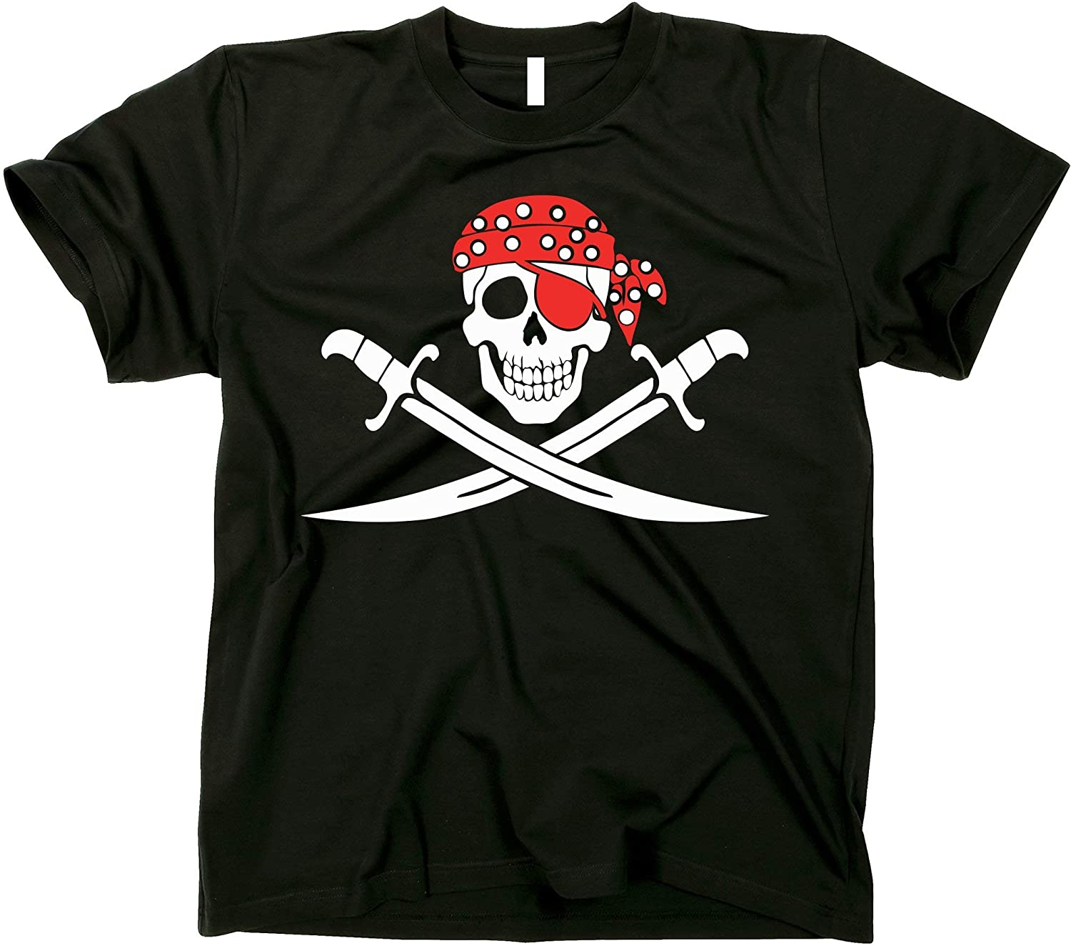 GunShowTees Mens Jolly Roger Pirate Flag Shirt