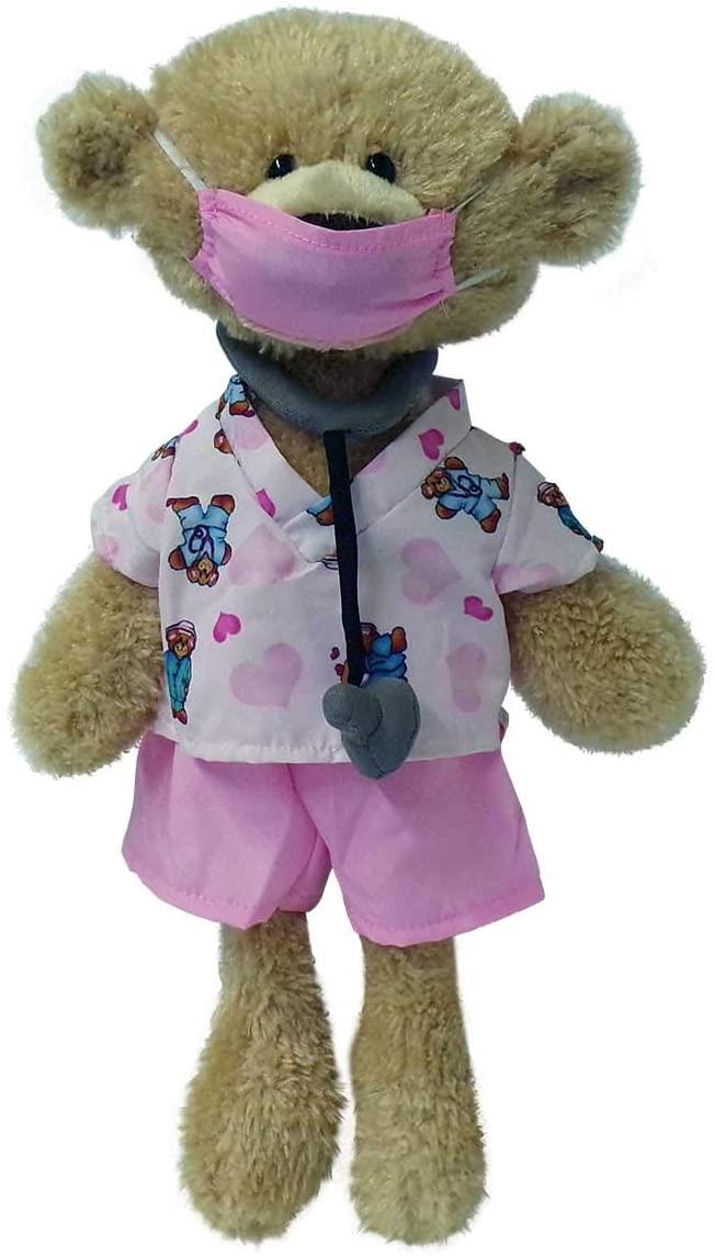 GUND Toothpick Teddy Bear Stuffed Animal Plush, Beige, 15 Collection (Hidden Smile Girl)