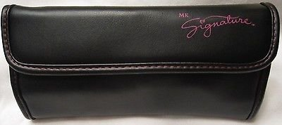 Mary Kay 5 Piece Brush Collection & Black & Pink Cosmetic Organizer