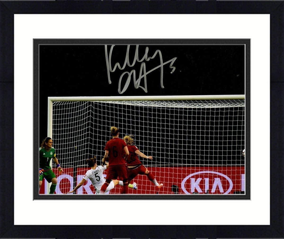 Framed Kelley O'Hara Signed Team USA 2015 Women's World Cup Goal vs. Germany 8x10 Photo - Autographed Soccer Photos