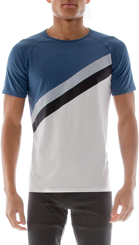 Kappa Kombat Mens Bartic Blue Grey Active T-Shirt