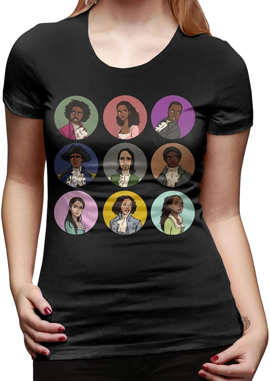 Women's Hamilton Graphic Tee Summer Short Sleeve Casual T-Shirt Cotton Blouse