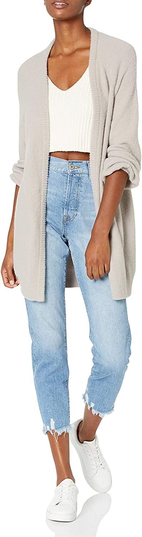 The Drop Women's Mirabelle Long Bell Sleeve Open Front Cozy Cardigan