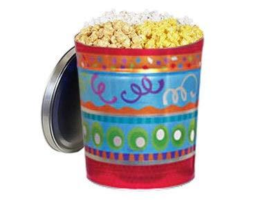 Gourmet Popcorn Gift Tin - Fiesta, 3-Way Popcorn Mix