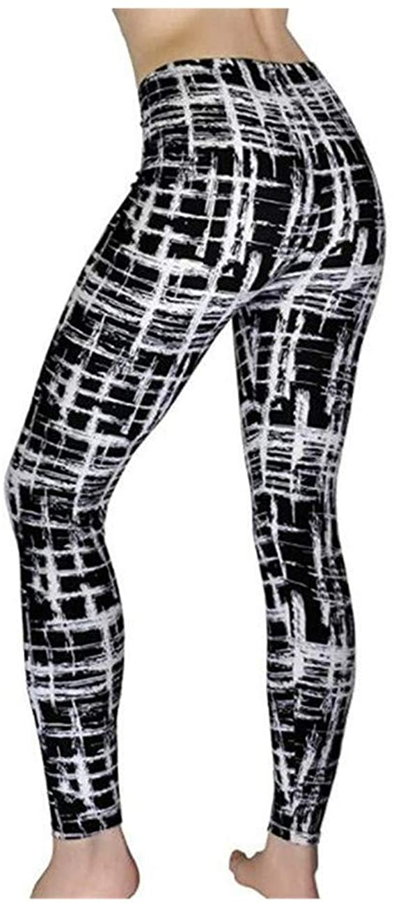 Print Flower Leggings Leggins Plus Size Legins Plaid Thin Nine Pants Women Clothing Aptitud Trousers