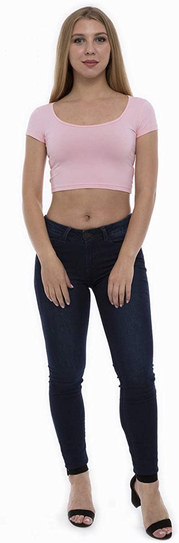 Lunarable Women's Short Sleeved Crop Top Sportswear