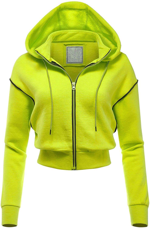 FashionMille Women's Casual Fleece Full Zip-up Hoodie Outwear Jacket
