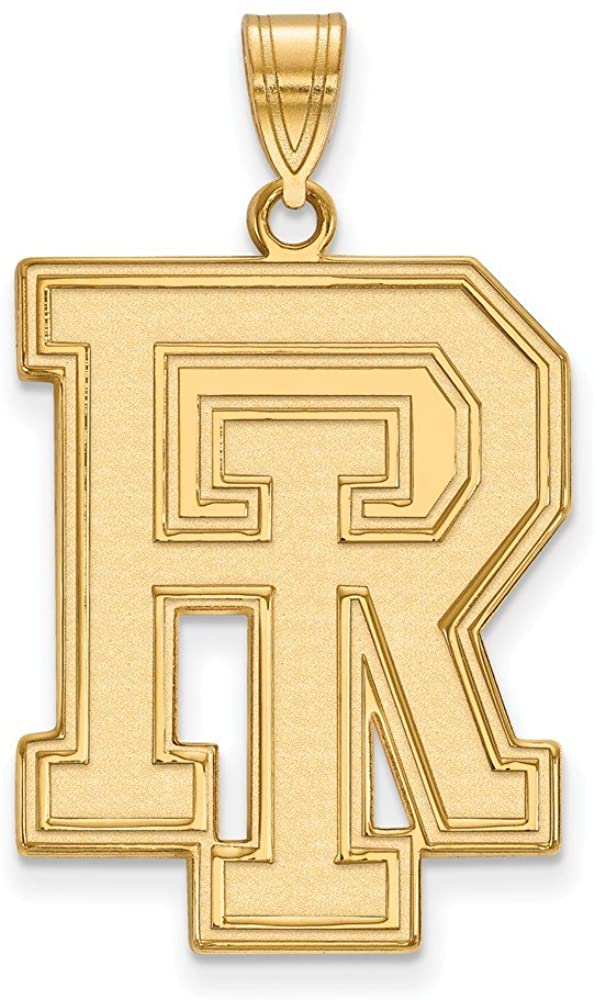 Solid 10k Yellow Gold Official University of Rhode Island XL Extra Large Big Pendant Charm - 33mm x 20mm