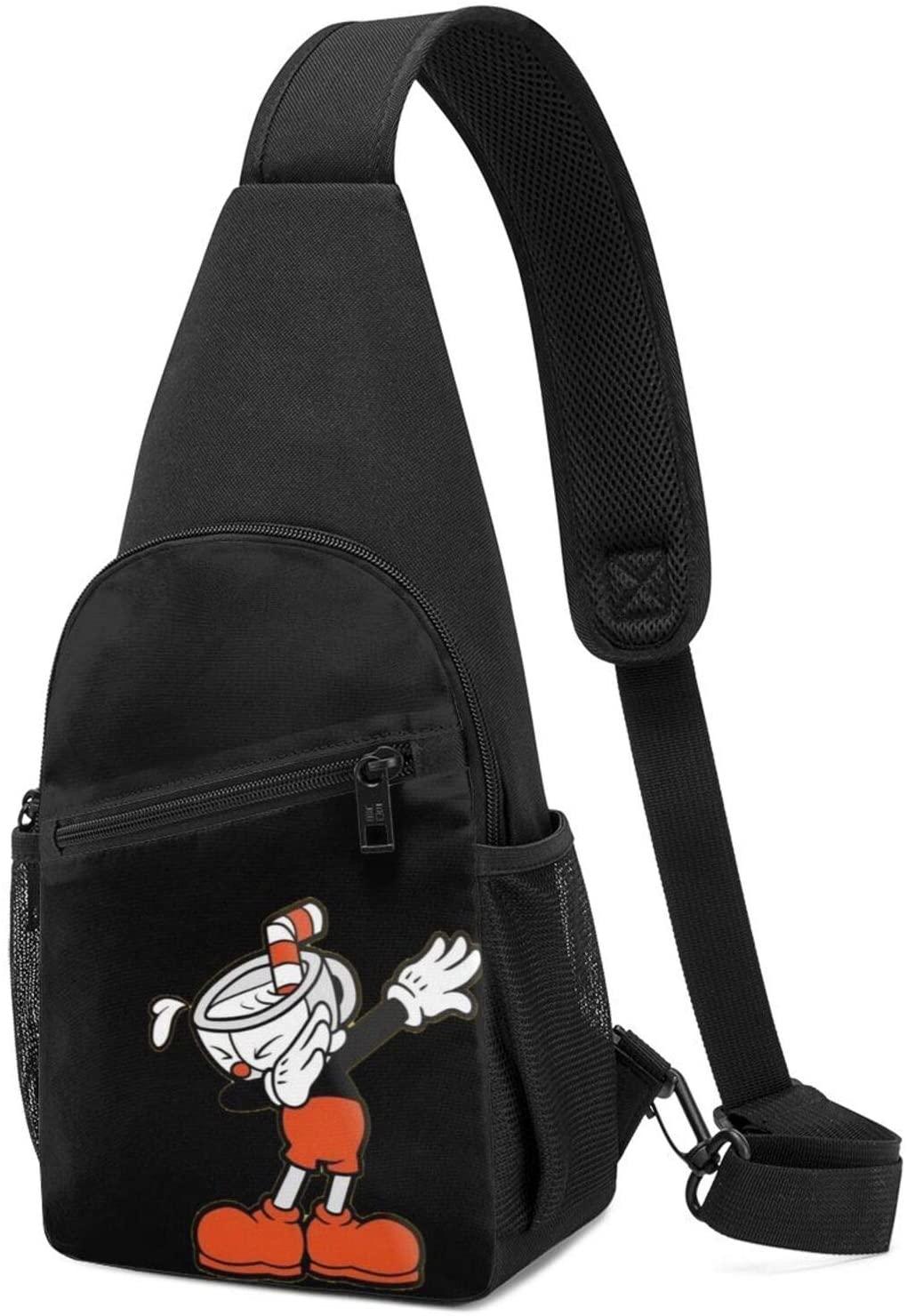 Cuphead Sling Bag Chest Bag Shoulder Backpack Cross Body Travel