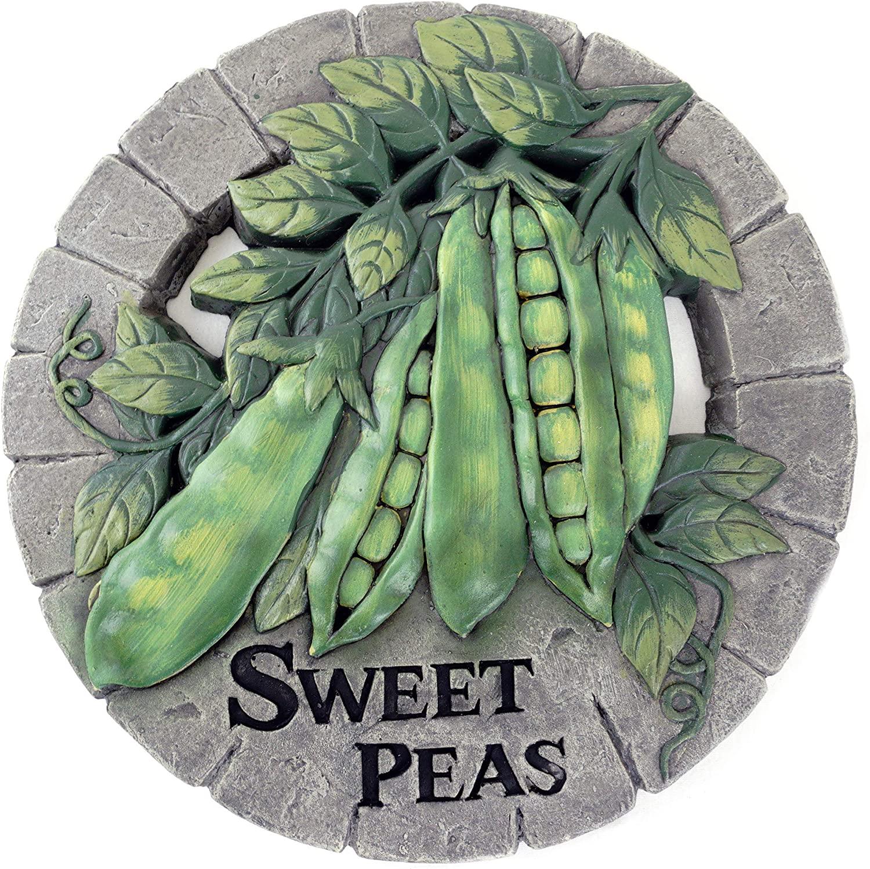 Sweet Peas Vegetable Themed Garden Stepping Stone