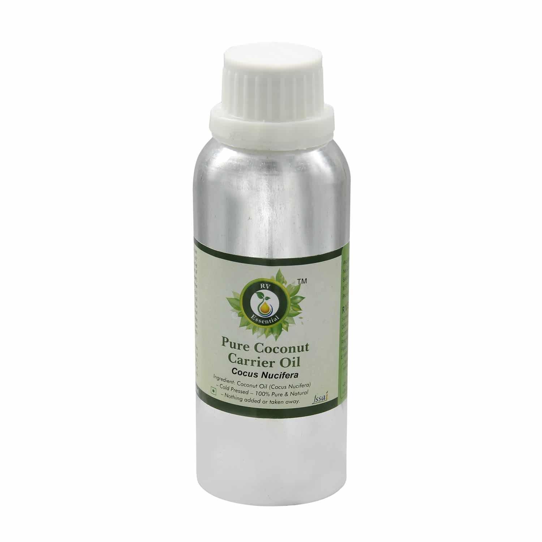 Coconut Oil | Cocus Nucifera | Unrefined | Pure Coconut Oil | For Hair | For Skin | For Body | 100% Pure Natural | Cold Pressed Coconut Oil | 1250ml | 42oz By R V Essential