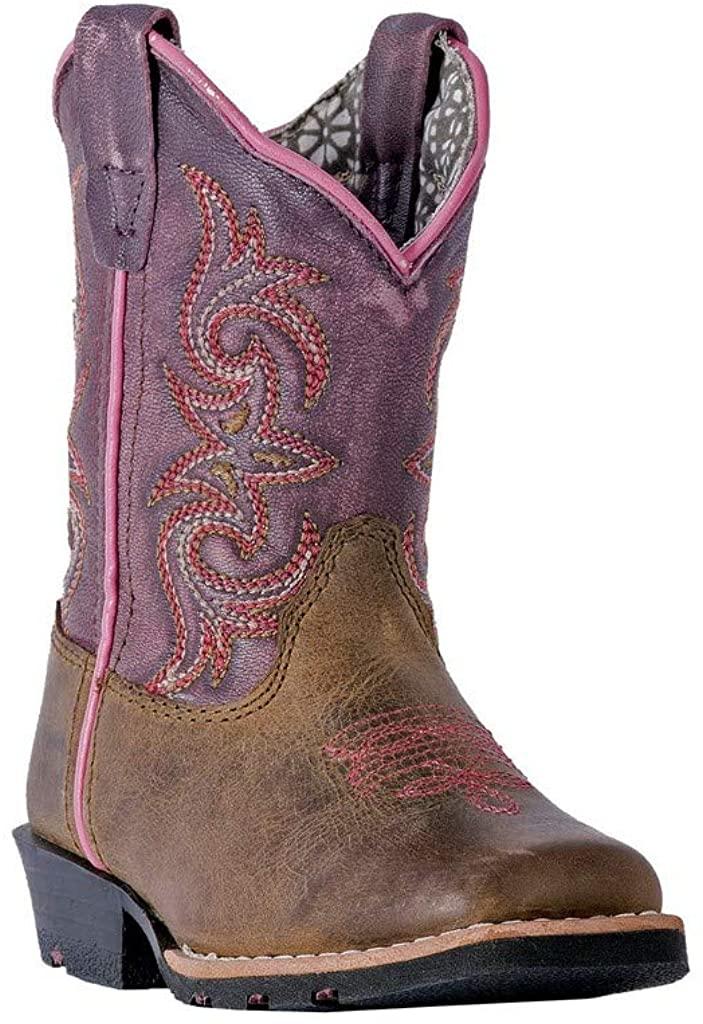 Dan Post Toddler-Girls Sand Tryke Leather Boot Square Toe - Dpc1947