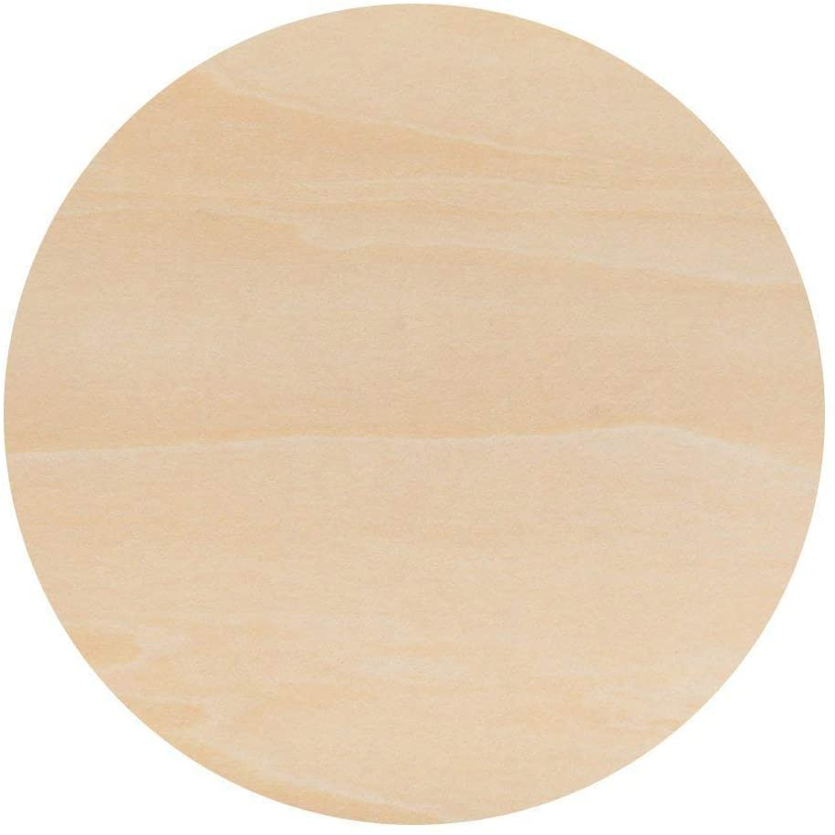 10 Inch Wooden Circle, 1/4 Inch Thick Unfinished Baltic Birch Wood by Woodpeckers…