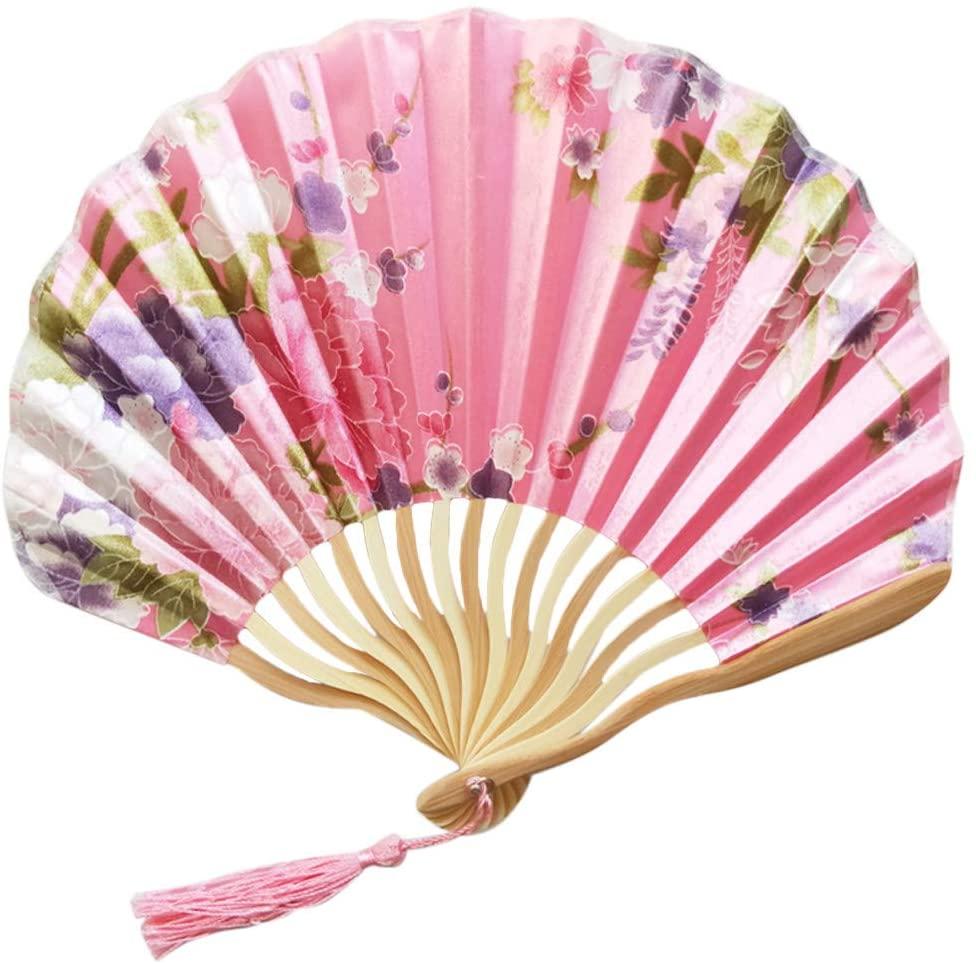 Printasaurus Fan Plaything Chinese Style Hand Held Fan Bamboo Paper Folding Fan Party Wedding Decor Home & Garden Fans