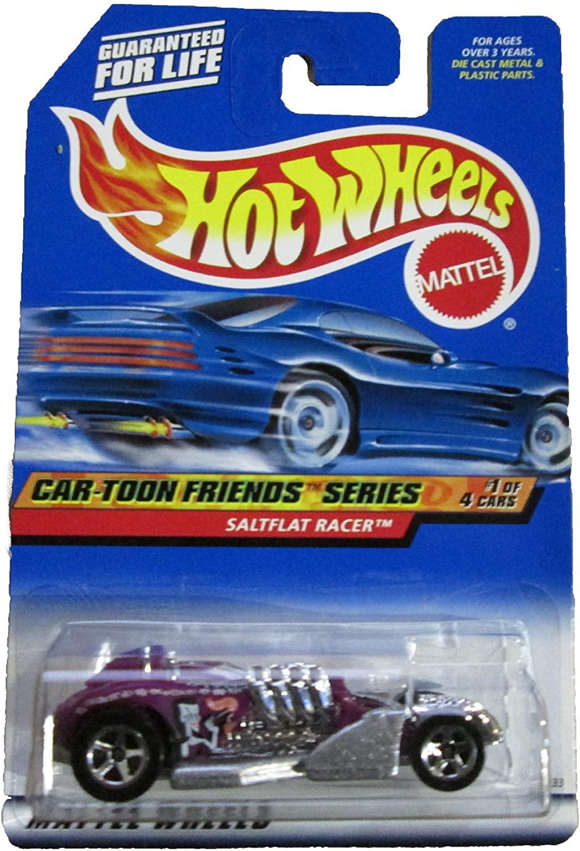 Mattel Hot Wheels 1999 1:64 Scale Car-Toon Series Purple Saltflat Racer Die Cast Car 1/4