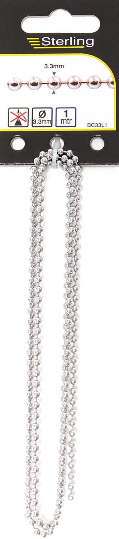 Sterling BC33L1 Ball Chain, Chrome