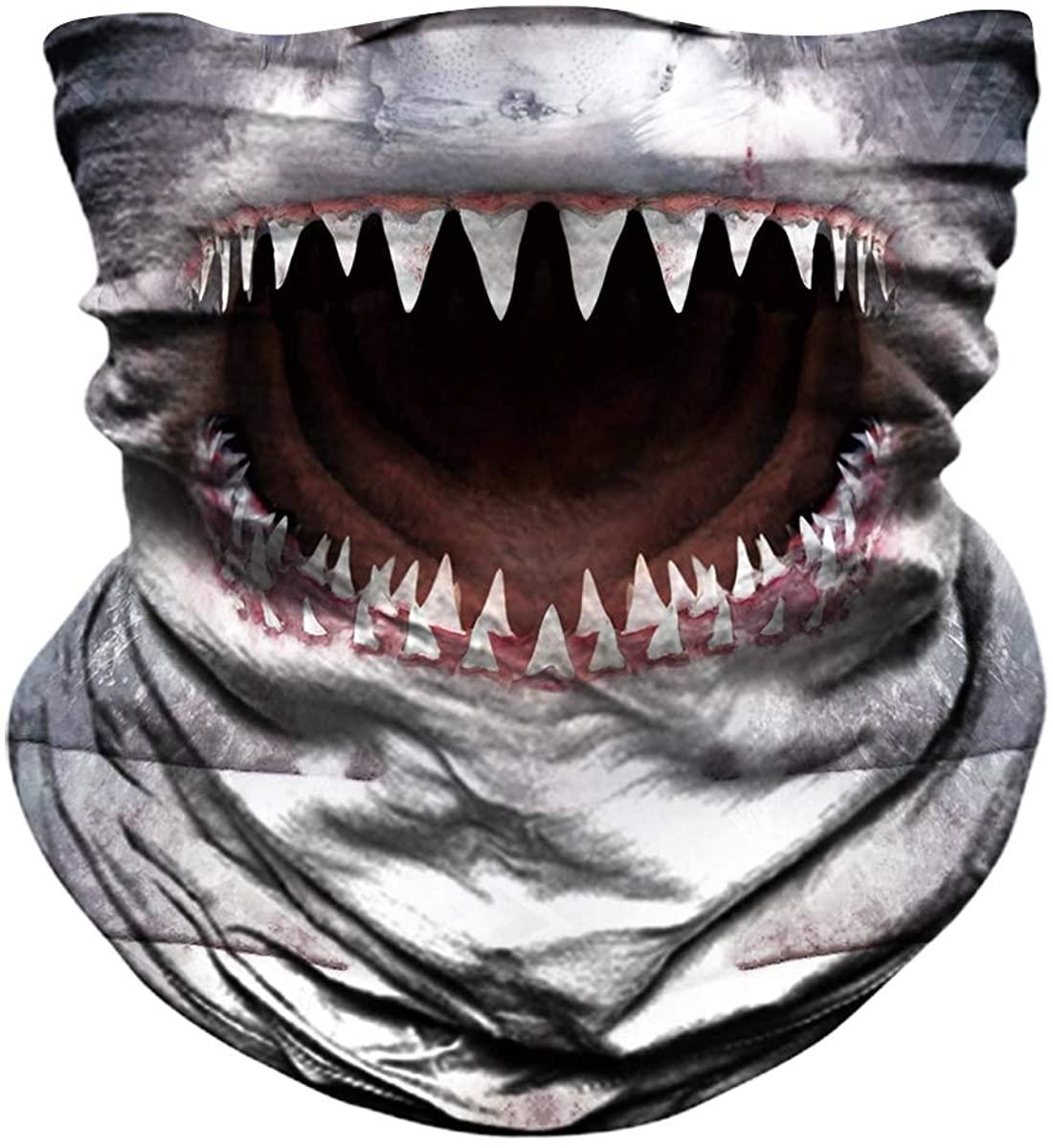 JOEYOUNG Seamless Face Mask for Men Women - Animal Hunting Half Face Mask, Fishing Scarf, 3D Neck Gaiter UV Sun Mask, Bandanas Balaclava for Motorcycle Riding Skiing, Dust Tube Mask Halloween Headwear