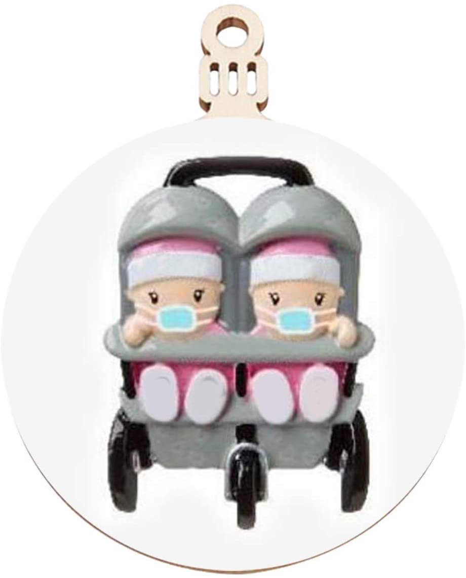 VEFSU 2020 Personalized New Christmas Ornament Face Cover Tree Hanging Home Party Holiday Decorations Xmas Gifts, Cute Baby and Warm Family(J)