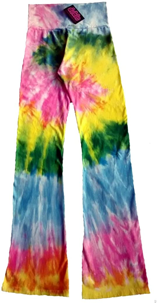 Pastel Rainbow Spiral Tie Dye Chakra Yoga Pants (3X-Large)