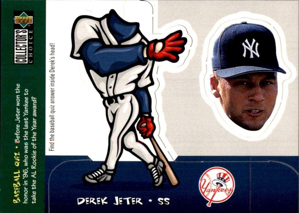 1998 Collector's Choice Mini Bobbing Heads #19 Derek Jeter HOF NEW YORK YANKEES 2020 Hall of Fame Class MLB Baseball Trading Card (Box228MRy)