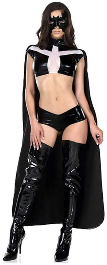 Hging New Game Uniforms Role-Playing Ninja Killer Costumes Imitation Leather Patent Leather Stage Costumes (Size : M)