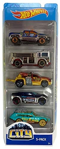 Hot Wheels 2019 City 5-Pack (Off-Duty, Fire Eater, Repo Duty, Symbolic, Tour De Fast)