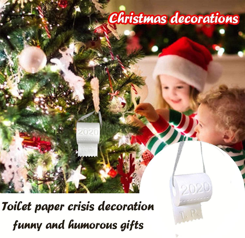 Mario 2020 Toilet Paper Crisis Souvenir Ornaments for Christmas Tree Hanging Decorations Halloween Toilet Paper Ornaments Gift Present 2Inchesx3.5Inches