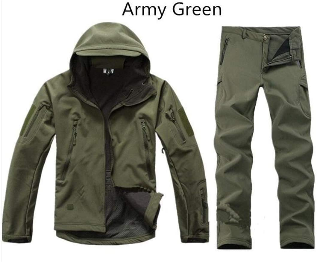 FieldShuFu Waterproof Windproof Army Clothing Shark Skin Soft Shell Military Tactical Jacket Picture color1 XS