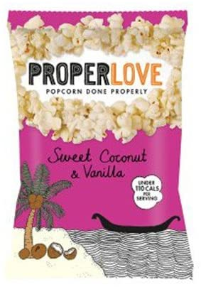 (2 Pack) - Propercorn - Sweet Coconut Vanilla Popcorn | 25g | 2 Pack Bundle