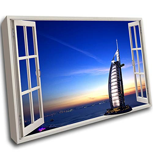 11 Dubai Abu Dhabi Coast Scenic Framed Wall Picture 3D Art Canvas Mount Room