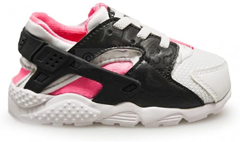 Nike Toddler Air Huarache Fashion Sneakers (6C, Wolf Grey/Black-Pink Flash) (10, Wolf Grey/Black-Pink Flash)