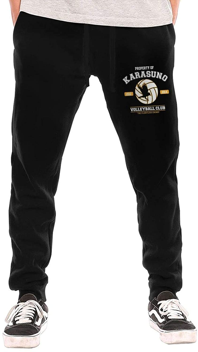 Men's 95vibes Property of Karasuno Volleyball Club Classic Casual Fit Trousers