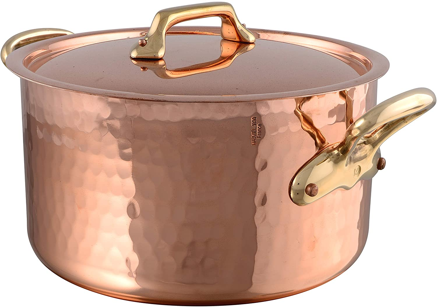 Mauviel1830 215136 M'Tradition Stew Pot with Lid 20 Litres